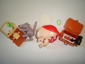 HALLOWEEN SKULL COFFIN & TRAP - KINDER SURPRISE FIGURES SET TOYS COLLECTIBLES