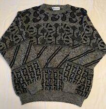 Large L Pronto Uomo Vintage Wool VTG 90s Coogie Style Cosby Ugly Sweater