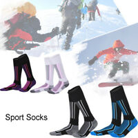 Fashion Men Women Winter Warm Long Ski Socks Hiking Sports Thermal Boot Sock