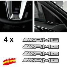 4x LOGO Auto-Adhesivo 3D INSIGNIA aluminio AMG PEGATINA STICKER