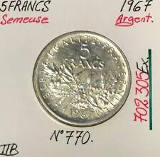 5 FRANCS SEMEUSE - 1967 - Pièce de Monnaie en Argent // TTB