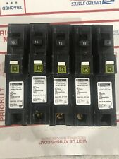 LOT OF 5 Qty HOMELINE HOM115PCAFI 15A PLUG ON ARC-FAULT AFCI BREAKER NEW Out Box