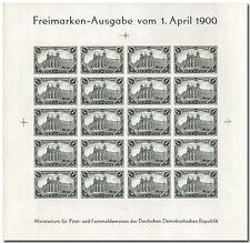"""DDR Schwarzdruck """"1 Mark Reichspost"""" im kompletten Bogen -2268-"""