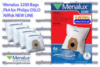 Menalux 3200 Vacuum Cleaner Bags for Nilfisk NEW LINE Philips OSLO Pk 4 IN STOCK