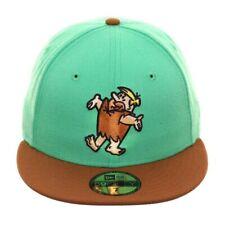 BARNEY RUBBLE THE FLINTSTONES GREEN BROWN 7 7/8 NEW ERA 59FIFTY FITTED HAT CAP