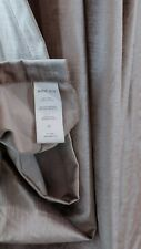 WEST ELM Cotton Luster Velvet Curtain - Pewter 48 x 84 - 1 panel Small Defects