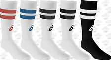 asics old school striped knee high socks