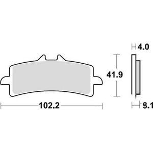 Plaquettes de frein  TRW Lucas MCB 858 SRT