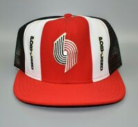 Portland Trail Blazers AJD Lucky Stripes NBA Vintage 80's Snapback Cap Hat