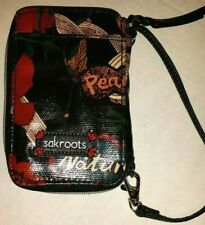 New listing Sakroots Artist Circle Smartphone Wristlet Nature Peace Black Wallet Cell Phone