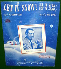 LET IT SNOW, Let it Snow Let it Snow Sheet Music, Len Hopkins Orchestra on Cover