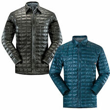 Polyester Button Collared Coats & Jackets for Men Quilted