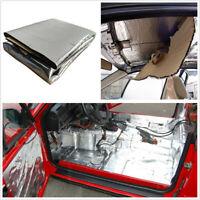 1*1.4m Car Universal Fiberglass Sound Mat Proofing Noise Insulation Foam Silver