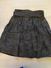 NWT PHILLIP LIM NEIMAN MARCUS $375 PLEATED UMBRELLA LINEN SKIRT SIZE 2 DBL BELT