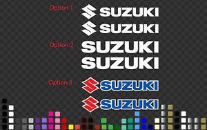 Suzuki pair Motorbike Sticker Decal Tank, Race fairing for many Colour, Sizes