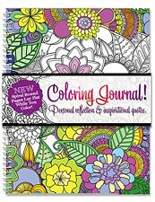 Adult Coloring Journal - An Adult Coloring Journal with Inspirational Quotes - -