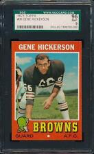 1971 Topps FB #36 GENE HICKERSON *Browns* SGC 96 MINT 9