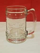 Captain Morgan Rum Bormioli Rocco Embossed Glass Mug Tankard
