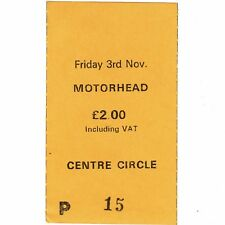 MOTORHEAD Concert Ticket Stub MANCHESTER UK 11/3/78 BEYOND THE THRESHOLD OF PAIN