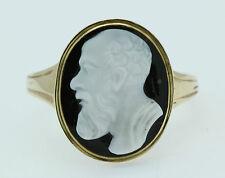 Un HARDSTONE anello con Cameo raffigurante un dio greco Intorno al 1800's