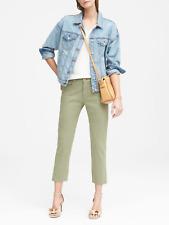 BANANA REPUBLIC Girlfriend Premium Denim Green Wash Cropped Jeans 29L NWT
