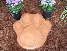 "13"" MEDIUM DOG CAT PAW PRINT CONCRETE CEMENT STEPPING STONE MOLD"