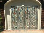 LOT OF 6 ANTIQUE / VINTAGE GORGEOUS STAINED GLASS WINDOWS, INCLUDING SET OF 4
