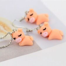 Cute Animal Polymer Clay Necklace&Earrings Cartoon 3D Pig Jewelry Set