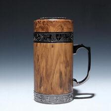 Chinese Yixing Zisha Purple Clay Liner Mug Thermos Flask 400cc