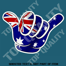 HANG LOOSE AUSTRALIA FLAG SURFING DECAL STICKER FLAGS PATRIOTIC DECALS STICKERS