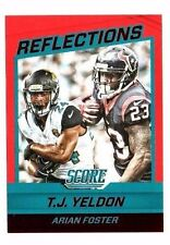 T.J.Yeldon, Arian Foster 2016 Score, Reflections, (Red) Football Card