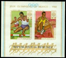 EDW1949SELL : BURUNDI 1968 Unlisted Olympic Imperforated Souvenir Sheet. VF, MNH