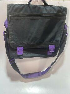 "Ascot 18"" TOTE BAG Black / Purple - USED!"
