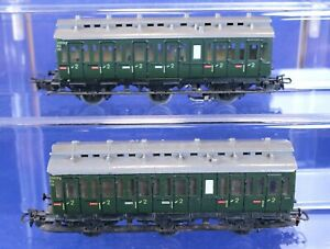 Lot of 2 Marklin HO Scale 3rd Class Passenger Cars