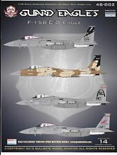 Bullseye Aviation F-15 B/C/D Eagle, ANG, CA, OR, MO Decals 1/48 002 DO