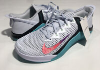 Nike Metcon 6 Flyease Gray, Aqua DB3794-020 NEW Women's 14 & 13 (Men 12.5, 11.5)