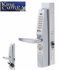 KING COBRA NARROW STILE DIGITAL PUSH BUTTON COMBINATION LOCK WITH BYPASS KEY NEW