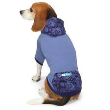 East Side COLLECTION Blue insect Shield Paisley Print Sweater w/hoodie. S/M.