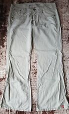 edc by esprit leinen hose play gr. 42 regular grau/beige