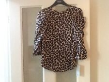 QUIRKY PRINT BLOUSE BY ZARA SIZE XS 8 NEW WITH TAGS