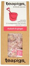 Rhubarb & Ginger Tea Bags - Tea Pigs - 15 Biodegradable Tea Temples