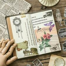 60pieces Vintage Plant Stickers Stationery DIY Scrapbooking Decor Stickers