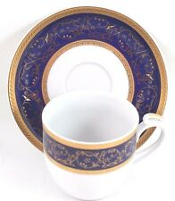6 SETS CUPS & SAUCERS VINTAGE THUN BOHEMIA SYDNEY CHINA GOLD COBALT BLUE WHITE