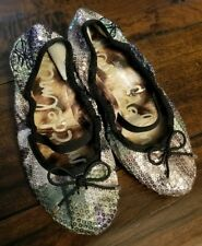 cdc325b4ebb SAM EDELMAN Camo Sequin Ballet Flat Shoes Size 10.5