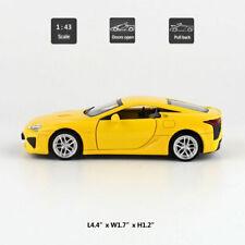 Yellow - Lexus LFA 1:43 Model Car Diecast Toy Vehicle Pull Back Doors Open