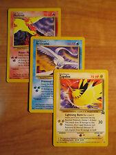 NM COMPLETE Pokemon MOLTRES ARTICUNO ZAPDOS Black Star PROMO Card Set 21 22 23