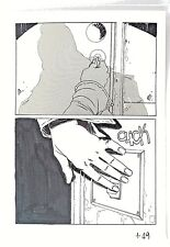 Planche de BD originale de Riccardo BURCHIELLI, 26 x 18 cm