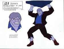 CHALLENGE Of The SUPER FRIENDS : SOLOMON GRUNDY MODEL SHEET DC ALEX TOTH