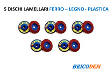 10 DISCHI LAMELLARI ZIRCONIO 115mm GRANA 120 MADE IN ITALY  NUOVI PREZZO STOCK