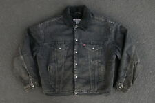 Vintage Rare Levis Sherpa Trucker Jacket Black Made in USA Fear of God Yeezy L